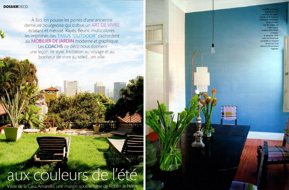 Casa Amarelo - Robert Le Héros - Imprensa - Madame Figaro - 1