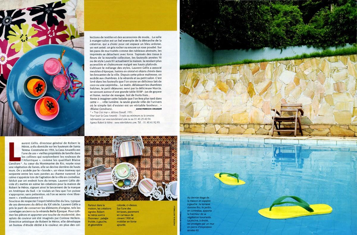 Casa Amarelo - Robert Le Héros - Imprensa - Madame Figaro - 2