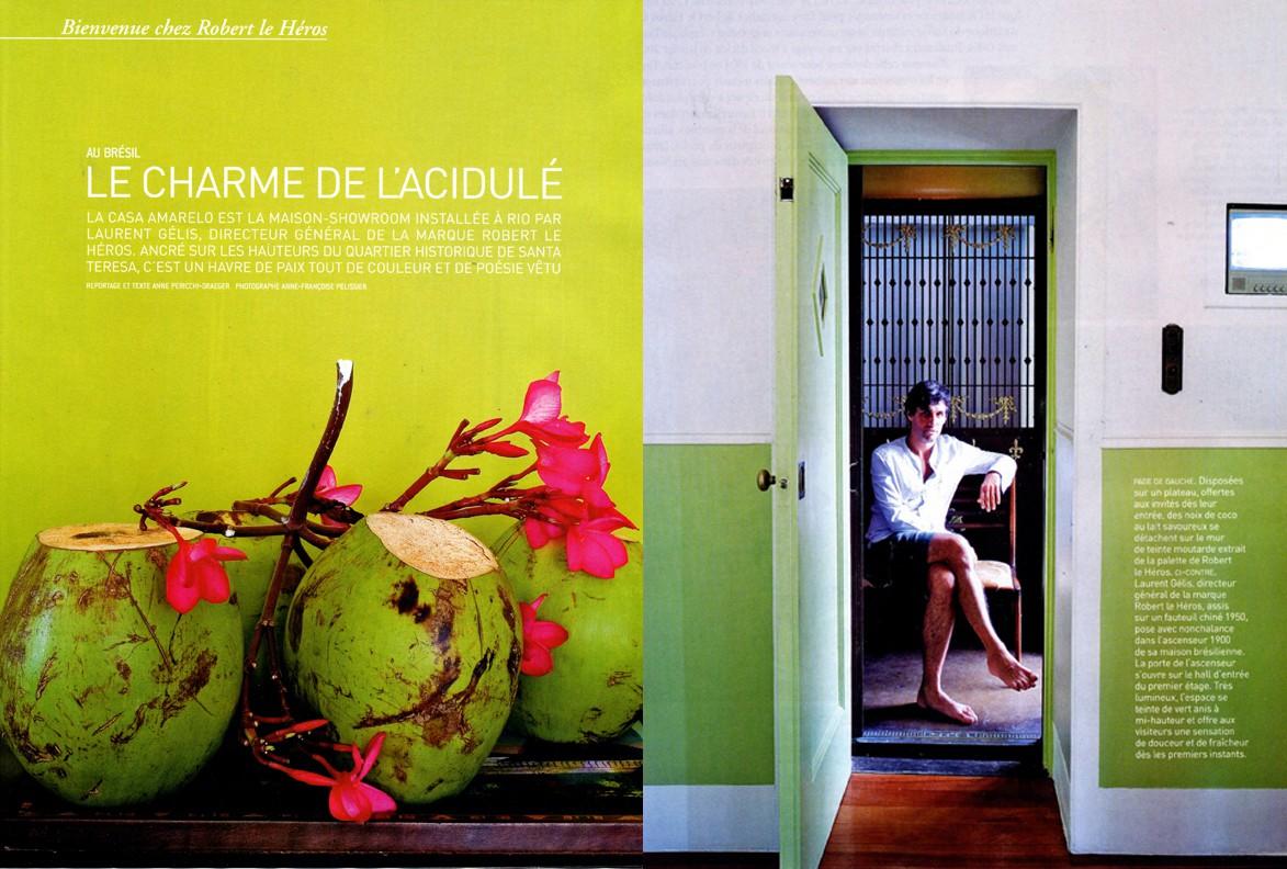 Casa Amarelo - Robert Le Héros - Press - Maison Française - 1